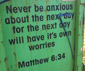 quote, worry, and god image
