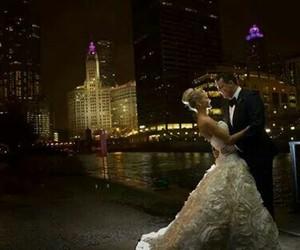 skyline, wedding, and weddingdress image