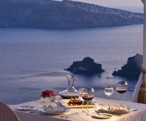 dinner, romantic, and sea image