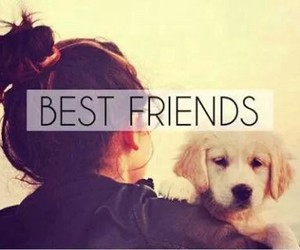 best friends, dog, and girl image