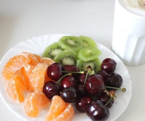fruit, cherry, and coffee image