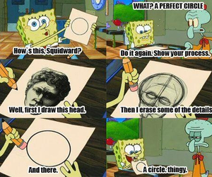 spongebob, funny, and circle image