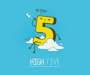 high five, funny, and high image