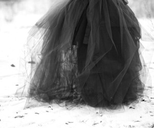 dress, black, and snow image