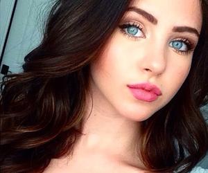 blue eyes, bethany mota, and girls image