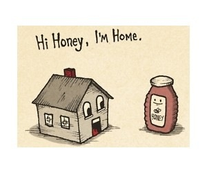 honey, home, and cute image