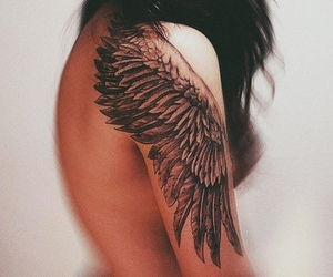 body, wing, and tattoo image