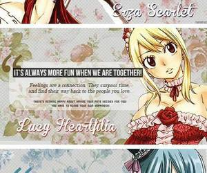 fairy tail, erza scarlet, and lucy heartfilia image