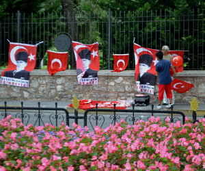 flag, turkish flag, and istanbul image