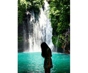 paradise, waterfall, and Philippines image