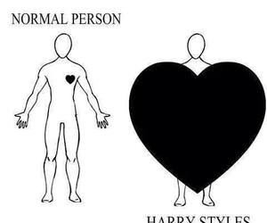 heart, Harry Styles, and one direction image