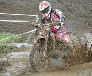 motocross and pink image
