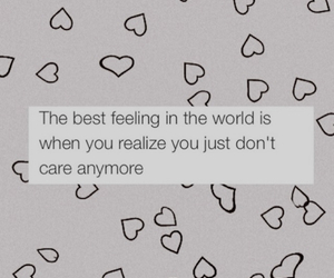 quote, care, and feeling image