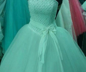 dress, green, and love image