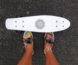 vans, skate, and white image