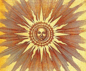 sun, hippie, and art image
