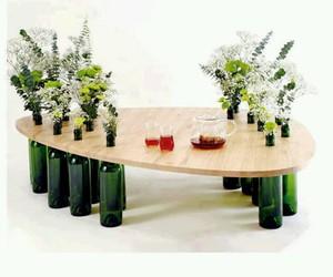 diy, mesa, and flores image