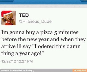 TED, funny, and pizza image