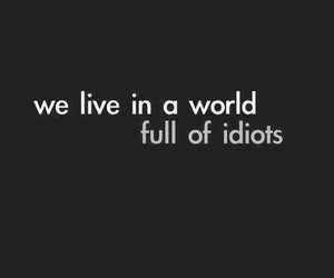 idiot, world, and quotes image