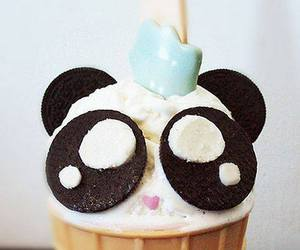 panda, ice cream, and food image