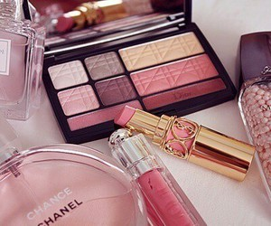 chanel, pink, and makeup image