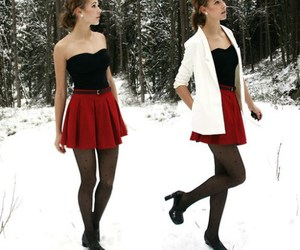 fashion, winter, and snow image