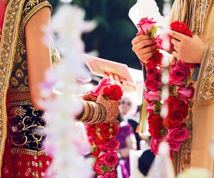 wedding, indian, and rose image