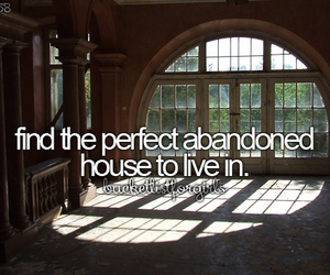 abandoned house and bucket list image