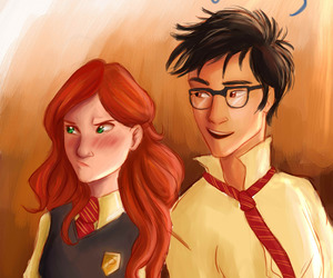 couple, harry potter, and kissing image