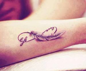 tattoo, life, and feather image