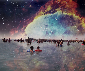 people, seaside, and universe image