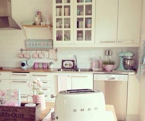 kitchen, girly, and decor image