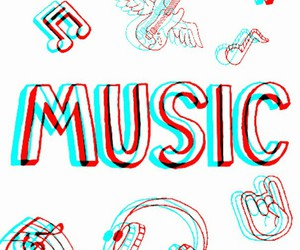 beauty, colorful, and music image