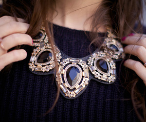 fashion, necklace, and black image