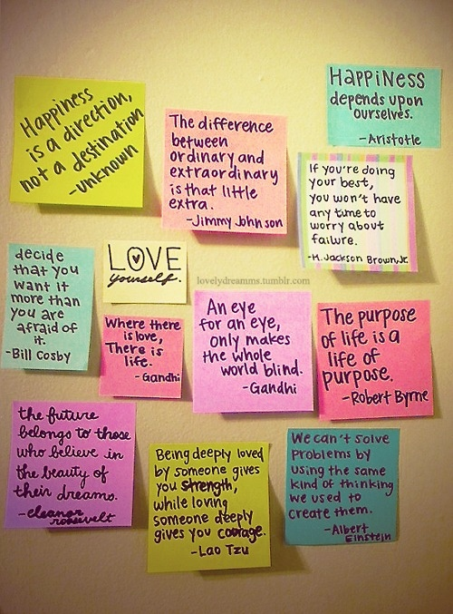 Cute happiness life love notes inspiring picture on favim thecheapjerseys Image collections