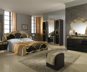 bed, luxury, and room image