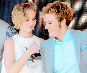 beautiful, blond, and catching fire image