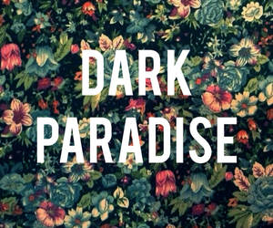 paradise, flowers, and dark image