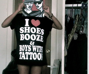 alcohol, Tattoos, and booze image