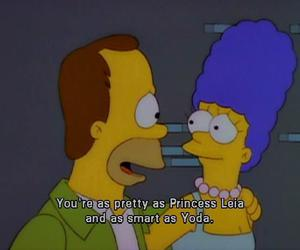 the simpsons, homer, and marge image