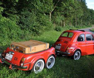 fiat 500 and anhänger image