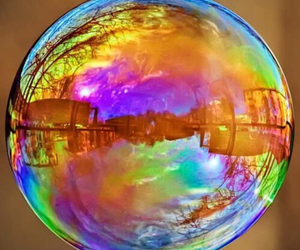 bubbles and rainbow image