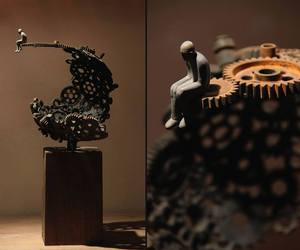 art, gears, and steampunk image