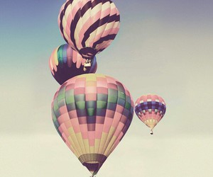 balloons, wallpaper, and pastel image