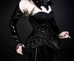 corset, Couture, and feathers image