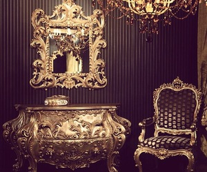 gold, luxury, and decor image