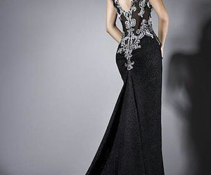 black dress, classy, and dress image