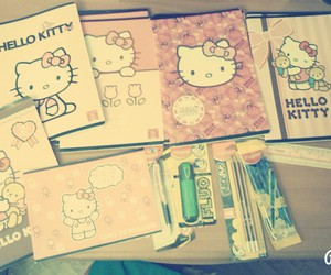 barbie, hello kitty, and pen image