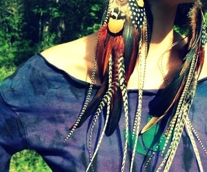 feather and earrings image