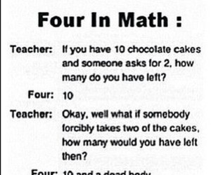 four, funny, and math image